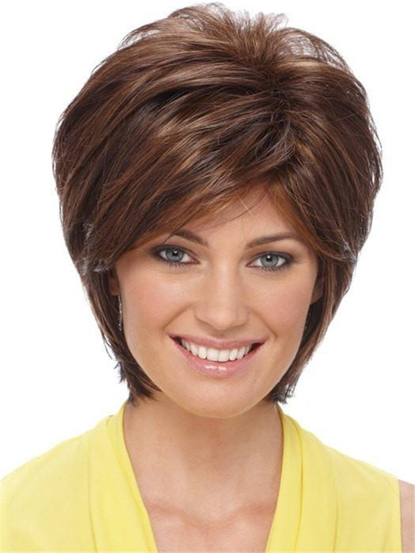 Gray Synthetic Wig Basic Cap For Women