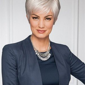 Gray Renew Synthetic Wig Basic Cap