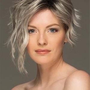 Blonde Rooted Layered Synthetic Lace Front Wig