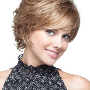 Blonde Rooted Synthetic Wig Basic Cap