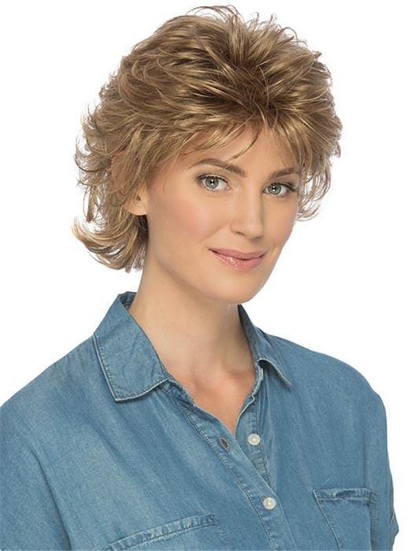 Gray Brunette Shelby Synthetic Wig Basic Cap