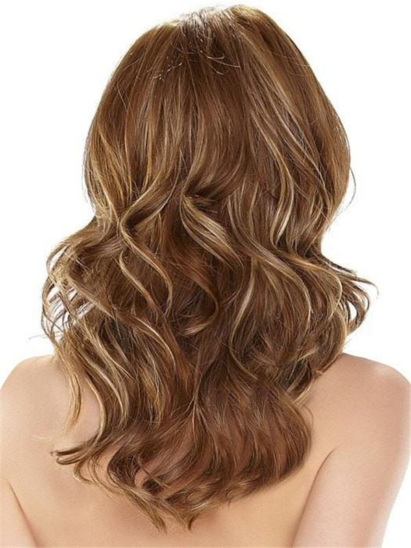 Blonde Monofilament HF Synthetic Lace Front Wig Hand-Tied