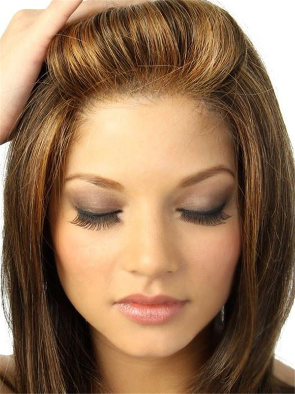 Blonde Synthetic Lace Front Wig Mono Part