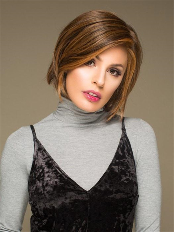 Red Rooted Hf Synthetic Lace Front Wig Mono Top