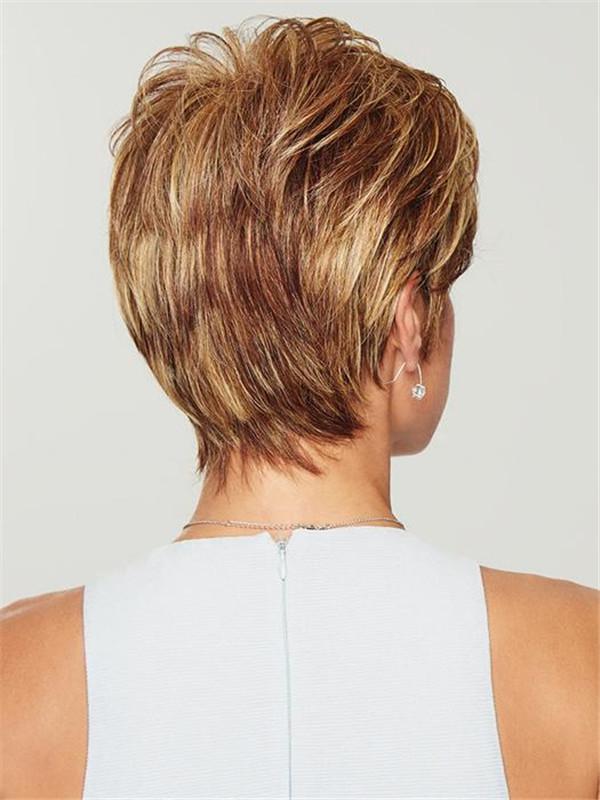 Gray Women's Brunette Hf Synthetic Wig Basic Cap