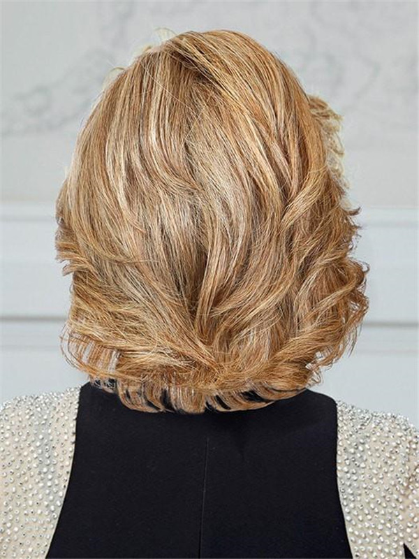 Blonde Remy Human Hair Lace Front Wig Hand-tied