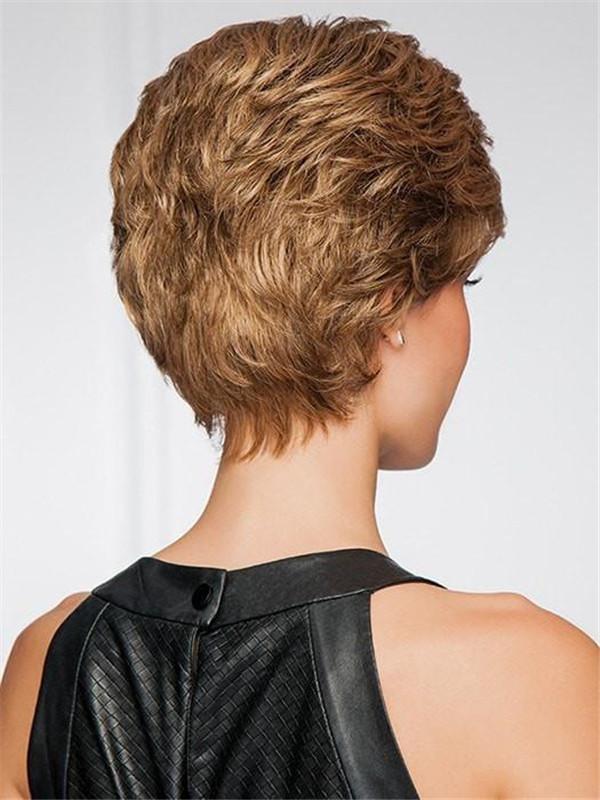 Gray Upper Cut Synthetic Wig Mono Crown