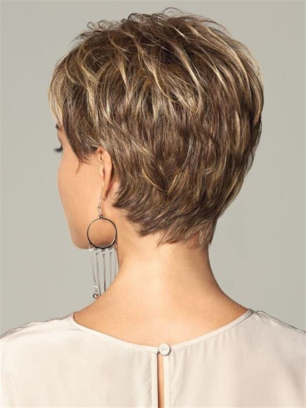 Gray Women's Hf Synthetic Wig Basic Cap