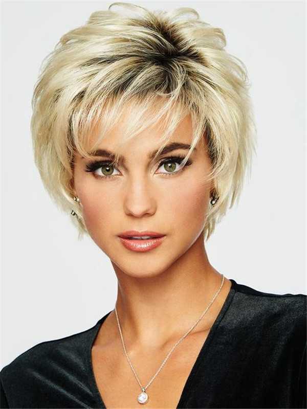 Gray Voltage Large Synthetic Wig Basic Cap