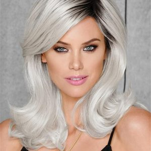 Colored Women's Whiteout Hf Synthetic Wig Basic Cap