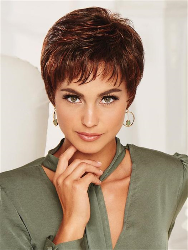 Black Monofilament Synthetic Lace Front Wig Hand-tied