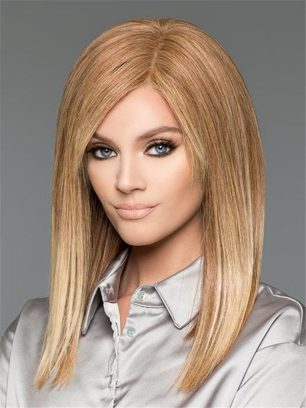 Black Adelle Large HT Human Hair Wig Hand-Tied
