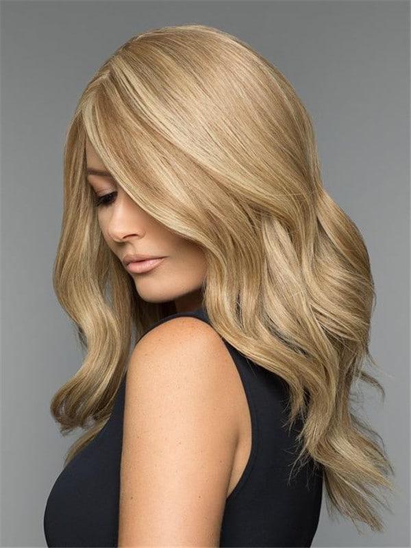 Blonde Layered Human Hair Wig Mono Top