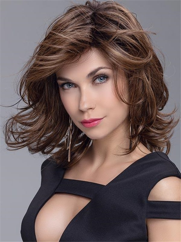 Black Wavy Synthetic Lace Front Wig For Women