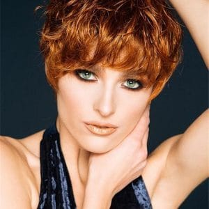 Red Pixie Allure Synthetic Wig Basic Cap