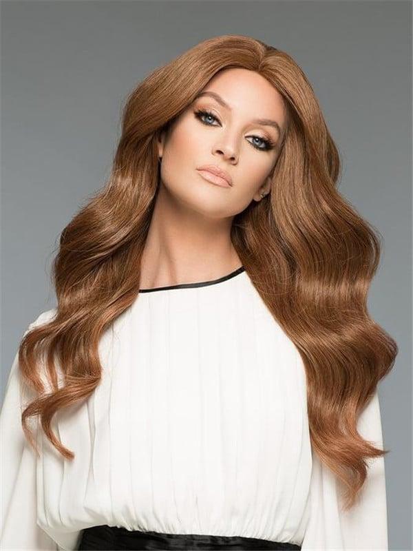 Black Amber H-Mono Human Hair Wig Mono Top