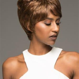 Black Amy Synthetic Wig Basic Cap