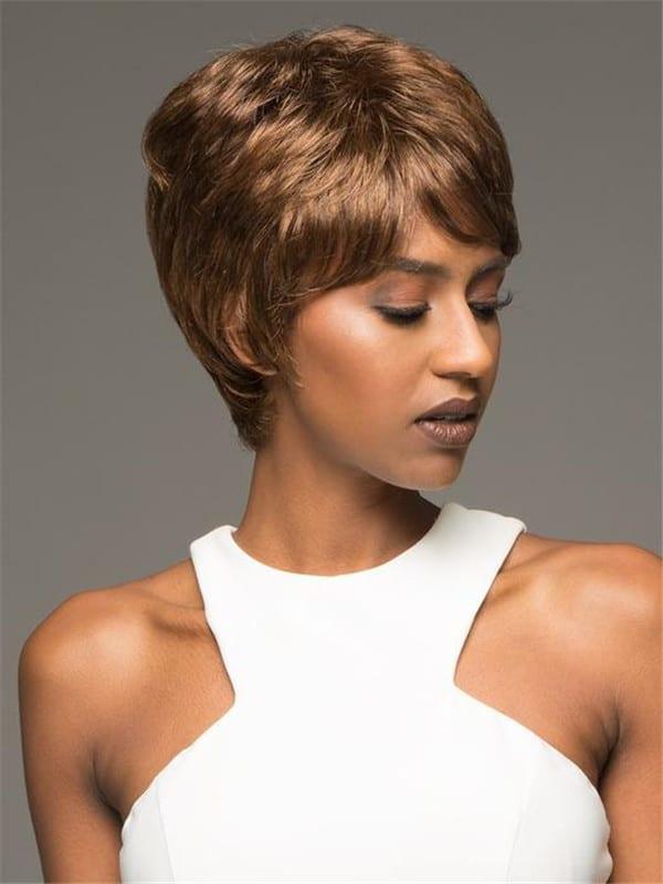 Black Amy Synthetic Wig Basic Cap