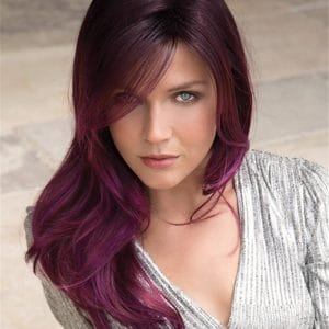 Blonde And Red Synthetic Wig Basic Cap Rooted For Women