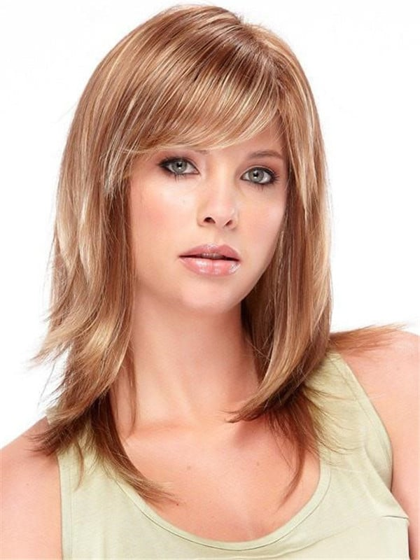 Red Synthetic Wig Basic Cap