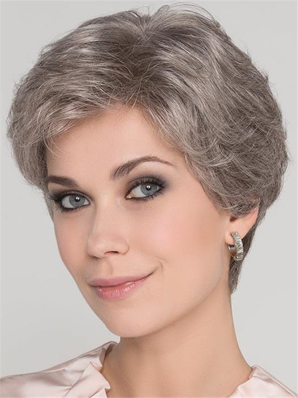 Gray Synthetic Lace Front Wig mono Top New Arrivals