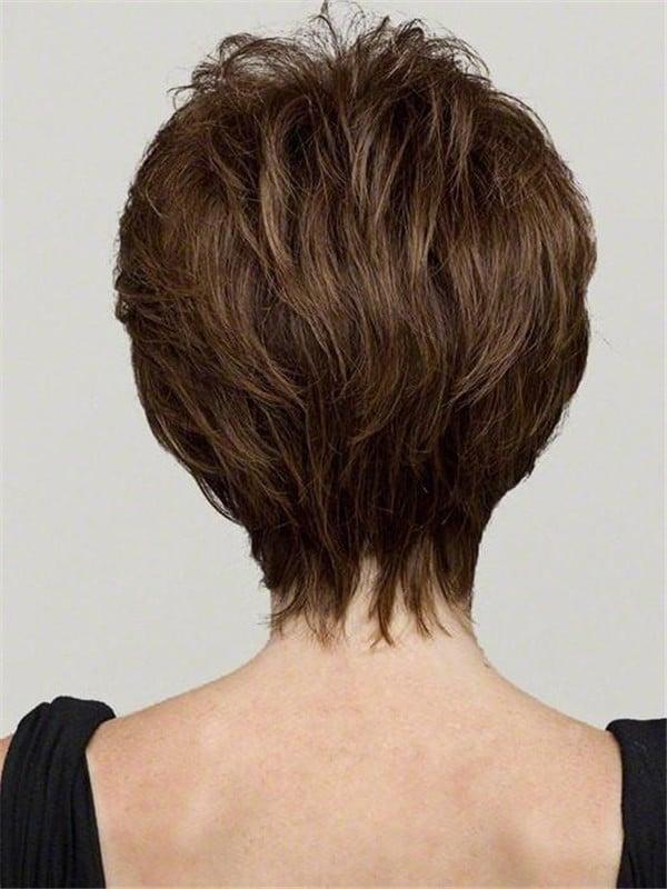 Gray Aubrey Human Hair Synthetic Wig Hand-Tied