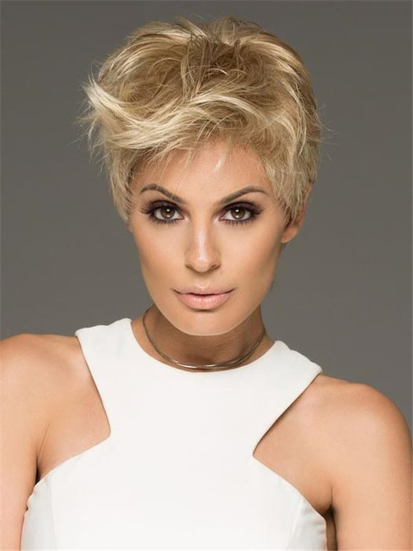 Gray Aura Synthetic Lace Front Wig Mono-Top