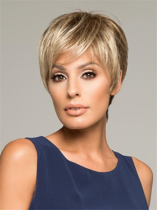 Blonde Brunette Synthetic Lace Front Wig Hand-Tied