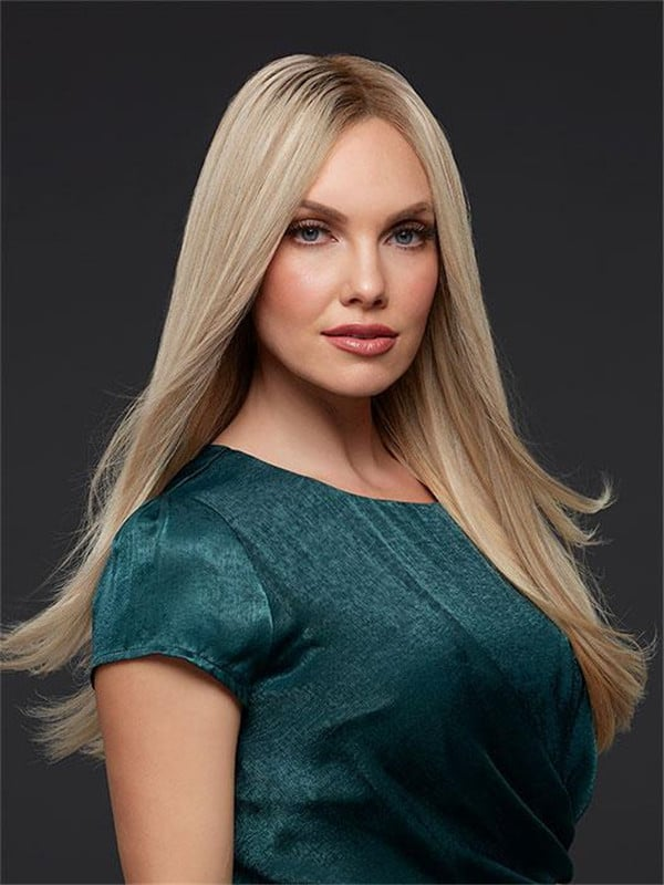 Black And Blonde Human Hair Lace Front Wig For Women