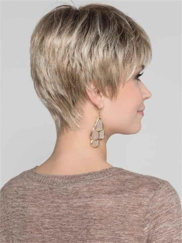 Blonde And Red Synthetic Lace Front Wig Pixie For Women