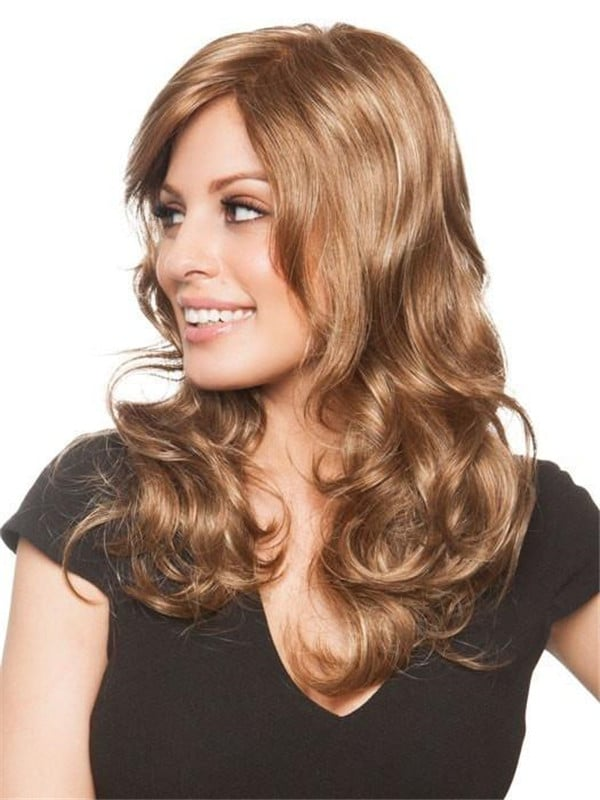 Black Brittany Synthetic Wig Mono Top