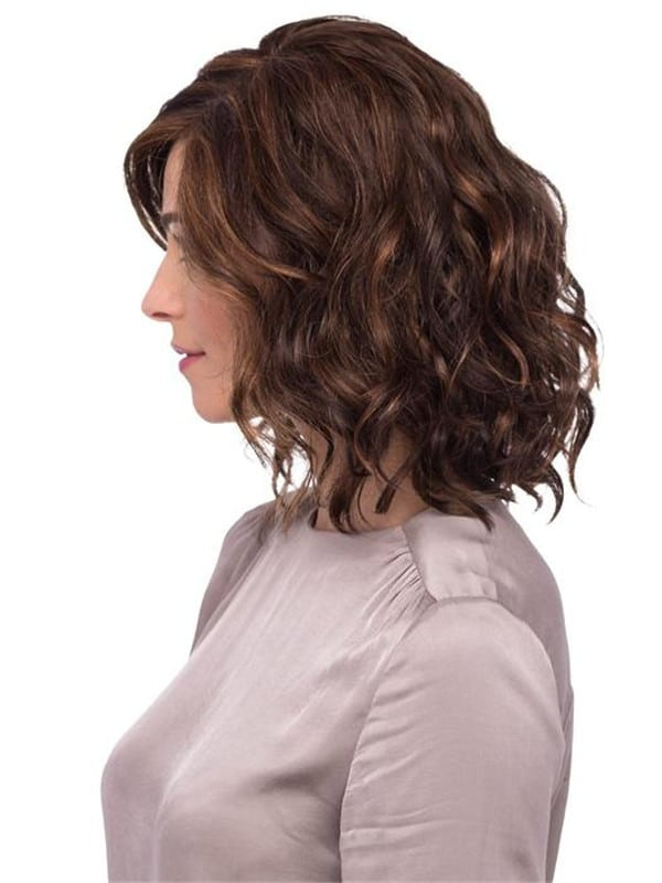 Blonde And Black Curly Synthetic Lace Front Wig Rooted For Women