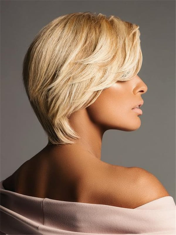 Blonde And Black Compliments Human Hair Lace Front Wig