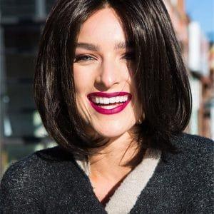 Black Brunette Cameron Petite Synthetic Lace Front Wig HT