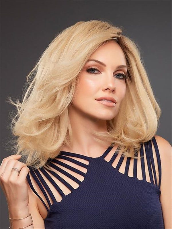 Black Brunette Human Hair Lace Front Wig Mono Top