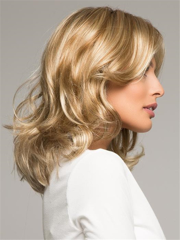 Blonde Carrie Synthetic Wig Basic Cap Rooted For Women