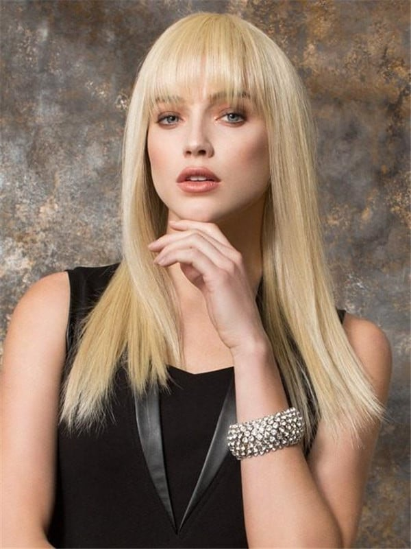 Blonde Cher Long Synthetic Wig Mono Crown