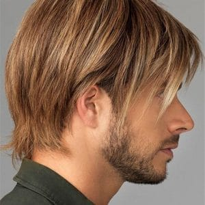 Gray Synthetic Lace Front Wig Monofilament For Men