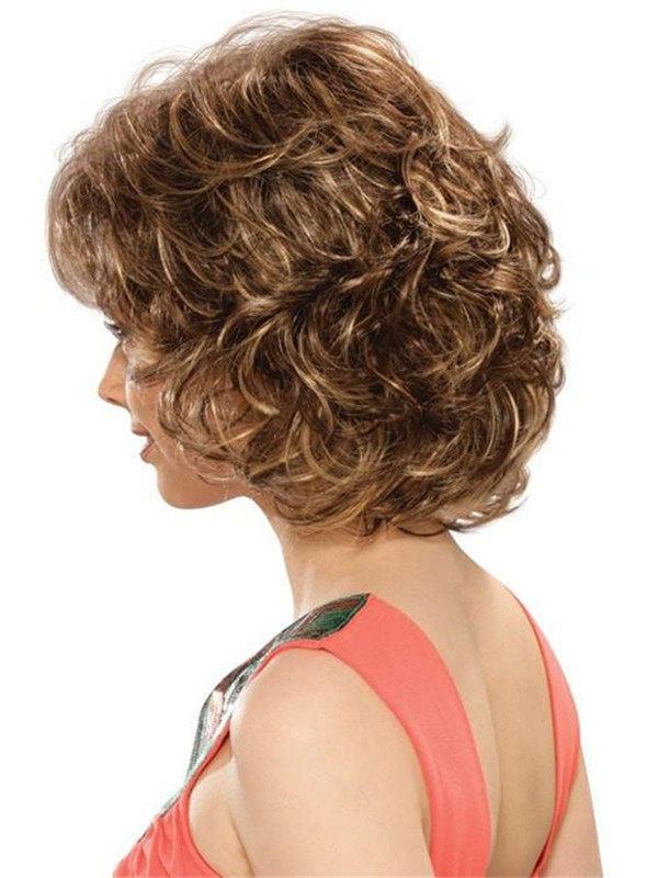 Gray And Red Colleen Synthetic Wig Basic Cap For Women