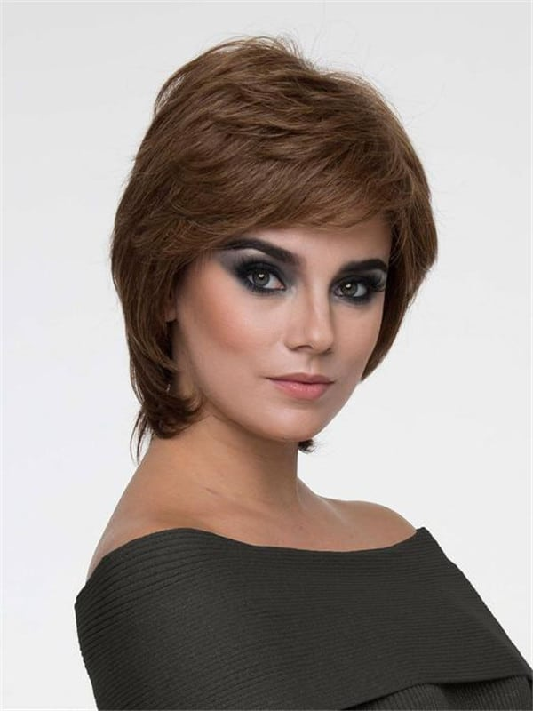 Red Coti Human Hair Synthetic Blend Wig Mono Top