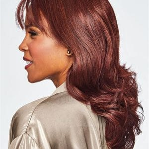Red HF Synthetic Lace Front Wig Mono Part