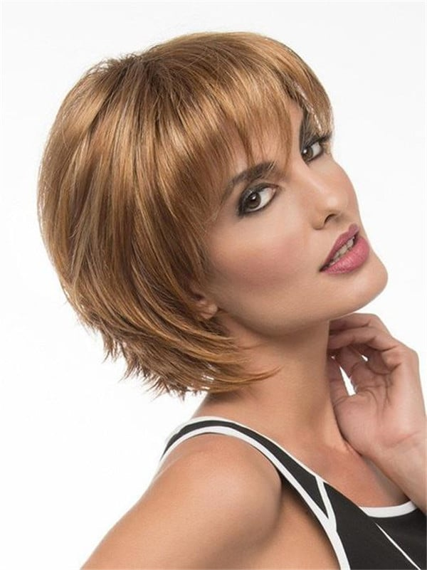 Red And Black Synthetic Lace Front Wig For Women