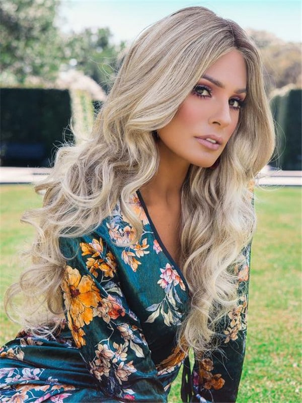 Black Down Time Synthetic Lace Front Wig Mono Top