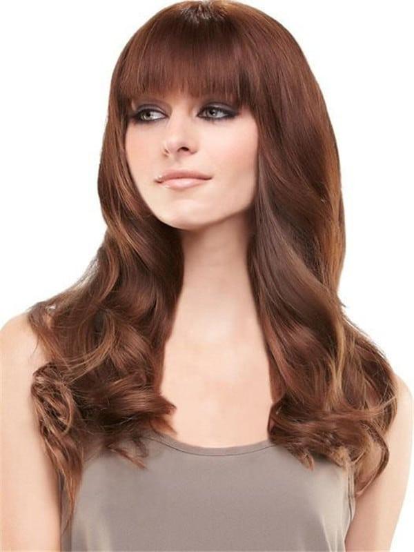 Bangs & Fringes Remy Human Hair Topper Mono Part