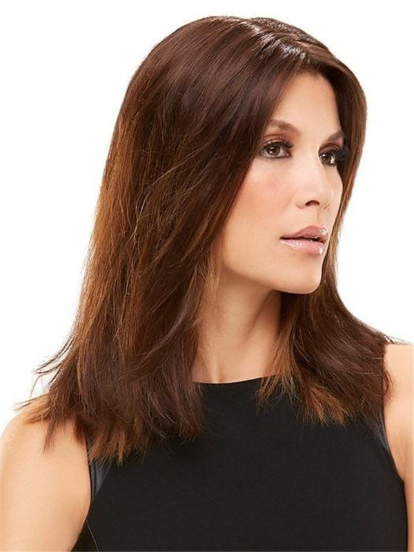All Hairpieces HF Synthetic Hair Topper Mono Top