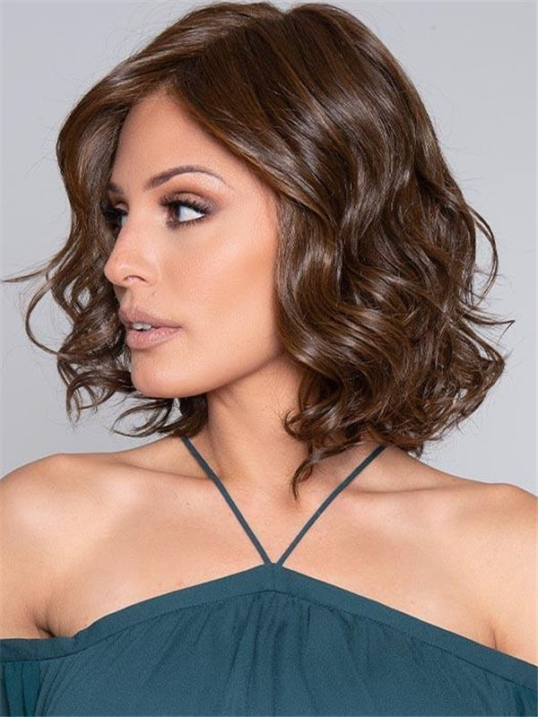 Black HF Synthetic Lace Front Wig Mono Top