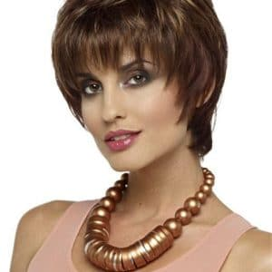 Red And Blonde Synthetic Wig Basic Cap For Women