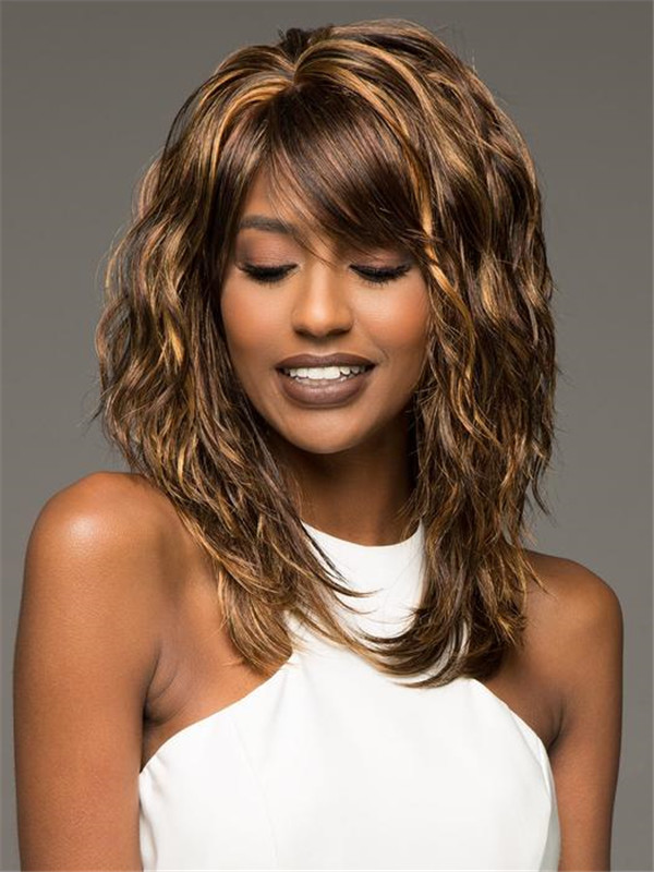 Black And Blonde Flirt Synthetic Wig Basic Cap For Women