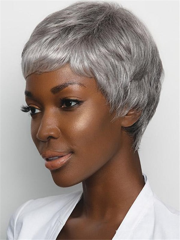 Gray Gabby Synthetic Wig Basic Cap