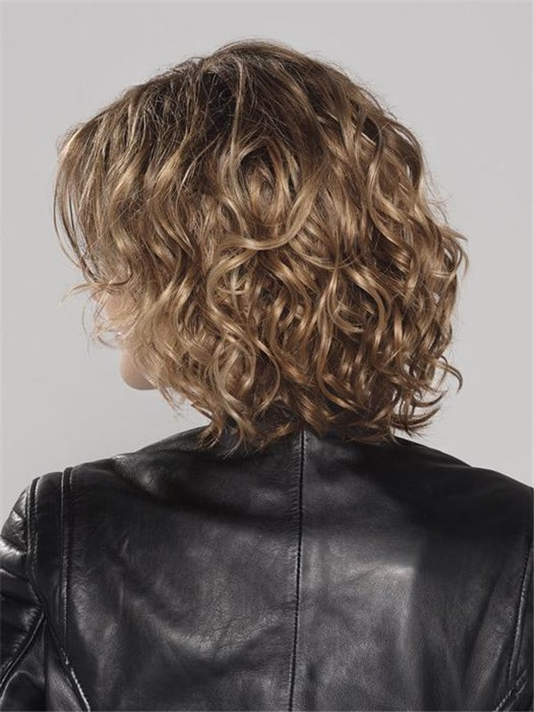 Girl Blonde And Red Synthetic Lace Front Wig Curly For Women